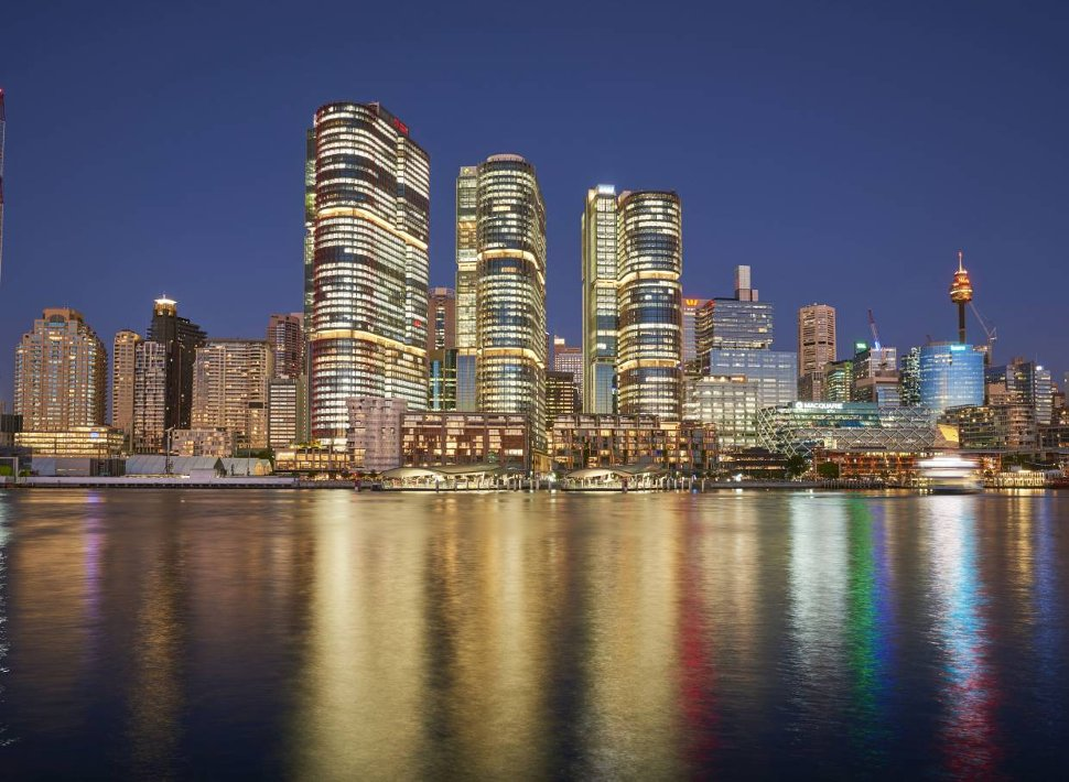 This former container wharf in Barangaroo South in Sydney, Australia is being transformed by local and international architects into a vibrant new waterfront city district.