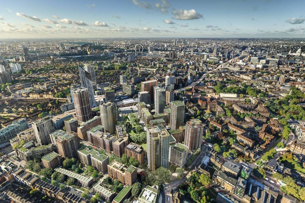 "The 9.71ha Elephant Park development in South London, due to complete by 2025, has been widely praised around the world for being a flagship ""carbon positive"" development under a C40 Cities programme, which is intended to show cities around the world how to be climate friendly."